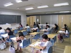 第2回 東海・滝・南女模試 グループ別志望校模試 実施風景1